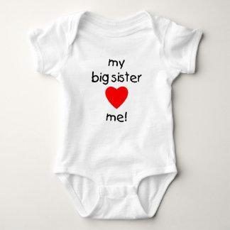 My Big Sister Loves Me Baby Bodysuit