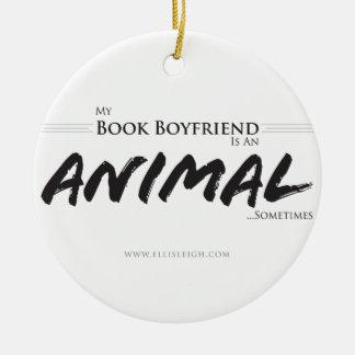 My book boyfriend... round ceramic decoration