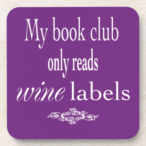 My Book Club Coaster