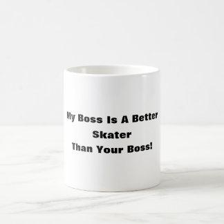My Boss Is A Better Skater Than Your Boss! Basic White Mug