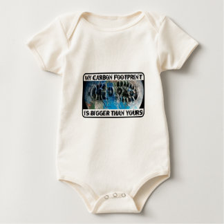 My Carbon Footprint Is Bigger Than Yours! Baby Bodysuit