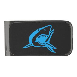 My Cash Stash is Fierce. Beware of Shark! Gunmetal Finish Money Clip