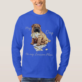 My Chinese Shar-Pei Ate My Lesson Plan T-Shirt