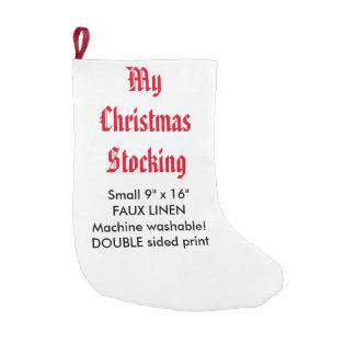 "My Custom Faux Linen Christmas Stocking 9""x16"" 2-S"