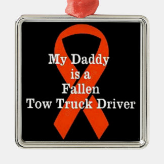 My Dad is a Fallen Tow Truck Driver Christmas Ornament