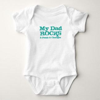 My Dad Rocks (& Feeds & Changes) Baby Bodysuit