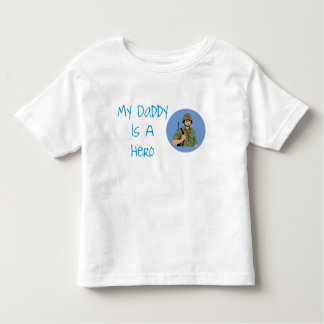My Daddy Is A Hero Army Soldier Kids Shirt