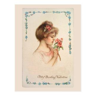 My Darling Valentine Vintage Postcard