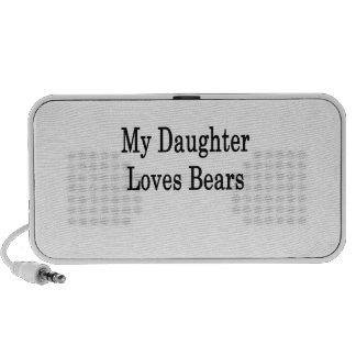 My Daughter Loves Bears Travel Speakers