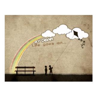 My Dear, Life Goes On . . . Postcard