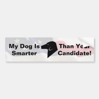 My Dog Dog is Smarter American Flag Bumper Sticker