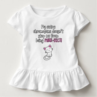 My extra chromosome makes me PURR-FECT, glitter Toddler T-Shirt