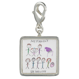 """""""My Family"""" Melody's Drawing Charm"""