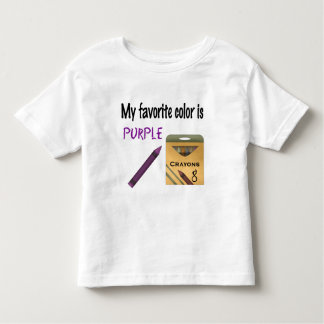 My Favorite Color is Purple Toddler T-Shirt