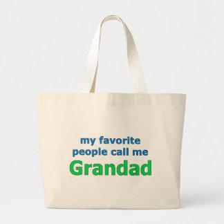 my favorite people call me grandad jumbo tote bag