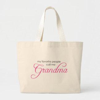 My Favorite People Call Me Grandma Large Tote Bag