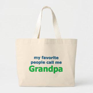 my favorite people call me grandpa jumbo tote bag
