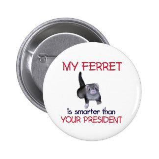 My Ferret Smarter 6 Cm Round Badge