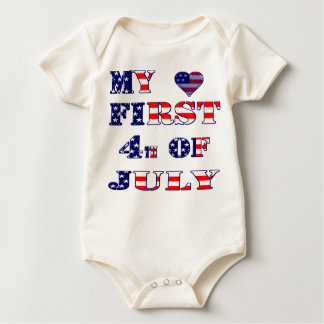 my first 4th July Baby Bodysuit