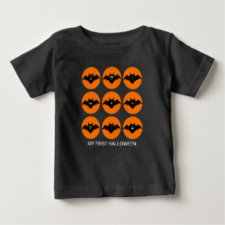 My first halloween funny pattern with bat emojis baby T-Shirt