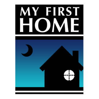 my first home (mod sunset) postcard