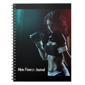 My fitness journal note book