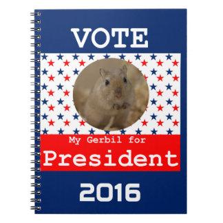 My Gerbil for President Notebook
