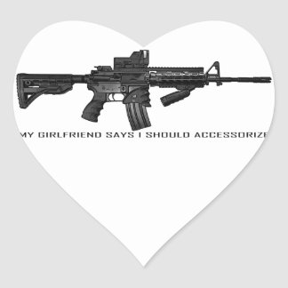 My Girlfriend Says I Should Accessorize AR15 Heart Sticker