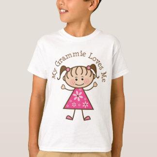 My Grammie Loves Me Stick Figure T-Shirt