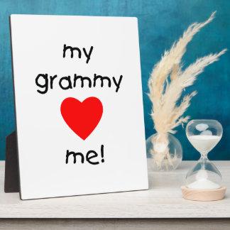 my grammy loves me plaque