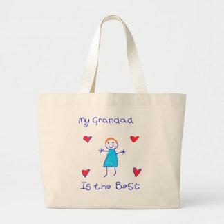 My Grandad is the Best Jumbo Tote Bag