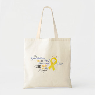 My Grandfather An Angel - Bladder Cancer Tote Bag