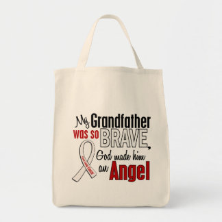My Grandfather Is An Angel Lung Cancer Tote Bag