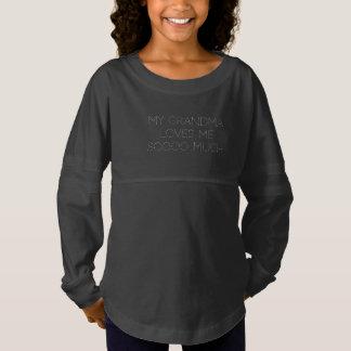 My Grandma loves me so much, Typography Love Jersey Shirt