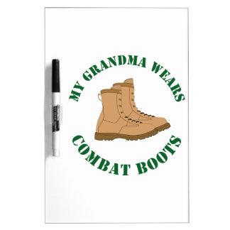 My Grandma Wears Combat Boots Dry Erase Board
