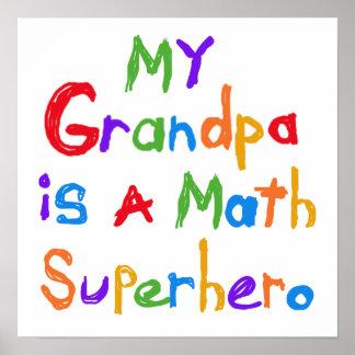 My Grandpa Math Superhero T-shirts and Gifts Poster