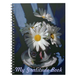 My Gratitude Book With Daisies In Sunlight Scene Spiral Notebook