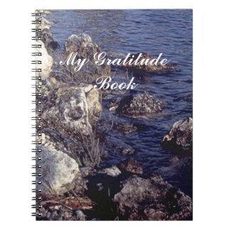My Gratitude Book With Shore Scene Spiral Notebooks