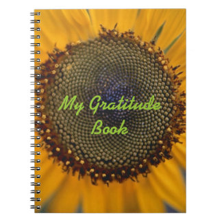 My Gratitude Book With Sunflower Notebooks