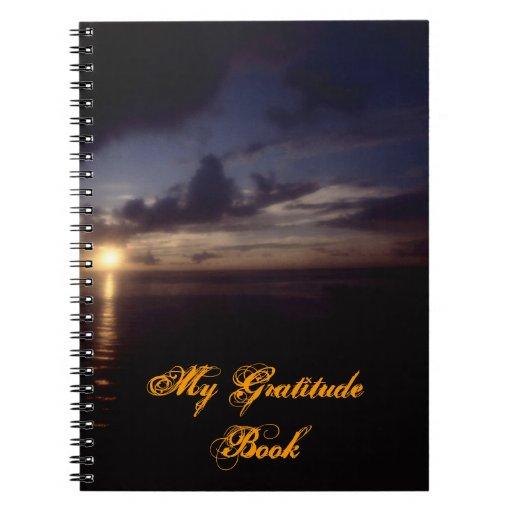 My Gratitude Book With Sunrise Scene Notebook