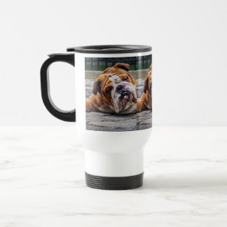 My Grumpy Dog is Saying Bulldog !!! Travel Mug