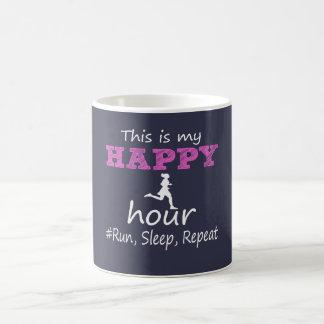 My Happy Hour! Run, Sleep, Repeat... Coffee Mug