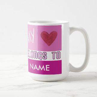 My Heart Belongs (Customize) Valentine's Day Mug