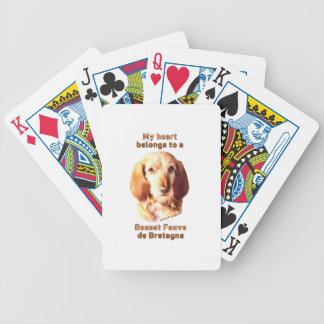 My Heart Belongs To A Basset Fauve de Bretagne Bicycle Playing Cards