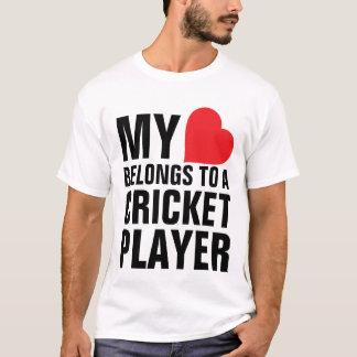 My heart belongs to a Cricket Player T-Shirt
