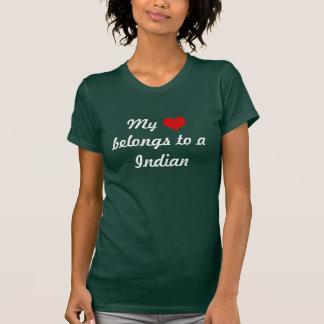 My heart belongs to a Indian T-Shirt