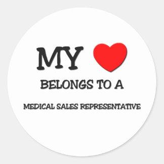 My Heart Belongs To A MEDICAL SALES REPRESENTATIVE Round Sticker