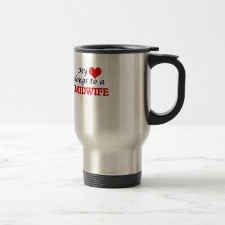 My heart belongs to a Midwife Travel Mug