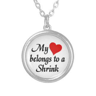 My heart belongs to a Shrink Silver Plated Necklace