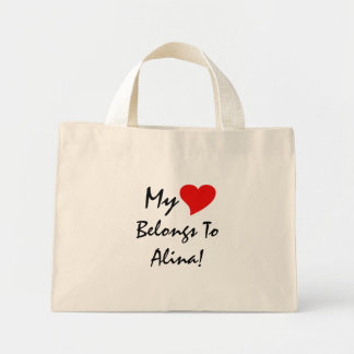 My Heart Belongs To Alina I Tote Bag